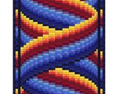 Diamante y patrón de tejido de cintas Bargello por QuiltingJays