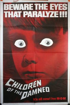vintage horror movie posters   THE DAMNED, 1964 . Original Advance 1 Sheet (27″/41″) Movie Poster ...
