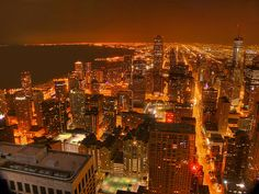 Signature Room 95th floor on Hancock building in Chicago.  Best dirty Vodka Martini's and a great view of the city