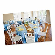 Reception Table Decorations | Blue and Yellow Reception | SouthernLiving.com