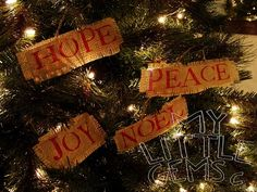 Burlap Word Ornaments {Tutorial}