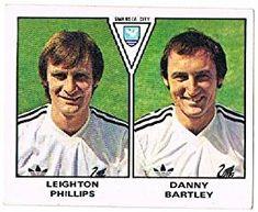Leighton Phillips / Danny Bartley of Swanse City - Football 80 - Panini - English & Scottish Leagues Retro Football, Swansea, Football Season, Ant, English, Adidas, Seasons, Baseball Cards, Seasons Of The Year