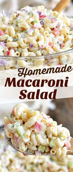 You cant have a BBQ party or a potluck without some delicious Macaroni Salad. This is our favorite Macaroni Salad full of red onions celery bell peppers herbs and of course delicious creamy dressing. Homemade Macaroni Salad, Macaroni Salad Ingredients, Pasta Salad Recipes, Macaroni Recipes, Recipe For Macaroni Salad, Summer Macaroni Salad, Macaroni Pasta Salad, Classic Macaroni Salad, Casserole Recipes
