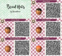 "Résultat de recherche d'images pour ""animal crossing new leaf qr codes for hair"""