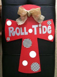 Alabama Roll Tide Wood Cross. $30.00, via Etsy.