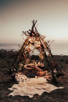 The prettiest floral-covered teepee we ever did see   Image by Tessa Tadlock