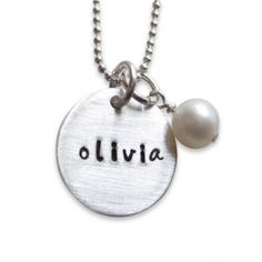Custom Hand Stamped Jewelry - Personalized Pendants | Charms (NN002). Starts at