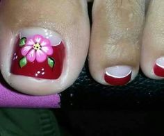 Pretty Toe Nails, Pretty Toes, Fun Nails, Pedicure Nail Art, Toe Nail Art, Mani Pedi, New Nail Art Design, Nail Art Designs, Toe Polish