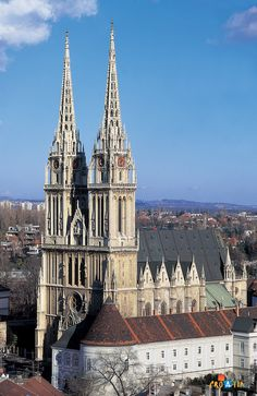 Zagreb Cathedral, Zagreb, Croatia - The tallest building in Croatia - in Gothic style - after the earthquake of 1880 the restauration was led by Herman Bolle - the farhest Gothic structure at the eastern border of Gothic arhitecture. Dalmatia Croatia, Zagreb Croatia, Dubrovnik, Places To Travel, Places To See, Travel Around The World, Around The Worlds, Les Balkans, Houses Of The Holy
