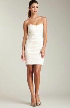 WOMEN Romeo & Juliet Couture strapless lace dress S NWT $200 Bridal