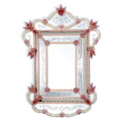CA' PESARO Red Mirror by FRATELLI TOSI - entirely handmade with Murano glass #yourmurano #glassart #shopping