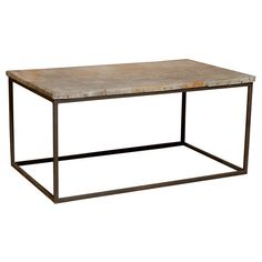 Coffee Table with Reclaimed Tin Top manufactured by Beau Studio Belgium Steel Base topped with reclaimed tin provides a soft industrial feel to this funky yet sophisticated coffee table. Original patina on top. Coffee Table with Reclaimed Tin Top  www.lovebeaustudio.com