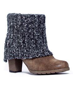Look at this #zulilyfind! Ivory Chris Knit-Cuff Bootie by MUK LUKS #zulilyfinds