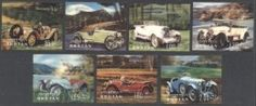 BHUTAN, OLDTIMER AUTOMOBILES, 7 DIFFERENT STAMPS MNH **!   For sale on Delcampe