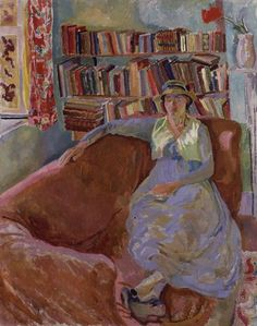 in the book: Unknown, For Pleasure, 1916  in real life: Duncan Grant, Vanessa Bell
