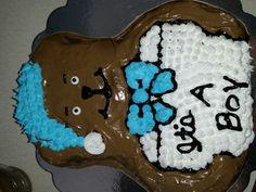 Baby shower bear cake 2014