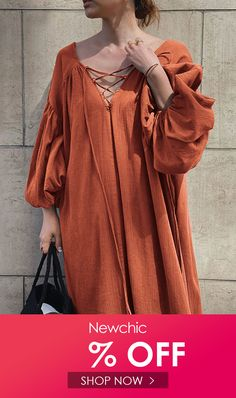 I found this amazing Criss-Cross V-neck Solid Color Long Puff Sleeve Loose Dress with US$27.99,and 14 days return or refund guarantee protect to us. --Newchic #Womensdresses #womendresses #womenapparel #womensclothing #womensclothes #fashion #onlineshop #onlineshopping #bigdiscount #shopnow #DiscountSale #discountprices #discountstore #discountclothing #fashionista #fashionable #fashionstyle #fashionpost #fashionlover #fashiondesign #fashionkids #fashiondaily #fashionstylist #fashiongirl