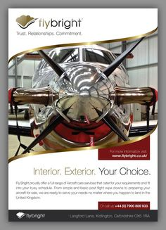 Calling All Awesome Designers, Amazing 1 Page A5 Flyer needed forPrivate Aircraft Detailing Company! by Mr Wolf