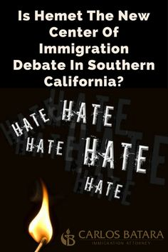 Is Hemet The New Center Of Immigration Debate In Southern California?  It's not quite summer, but the Riverside heat wave has already started.  Wildfires, the immigration variety, have erupted in cities and states...