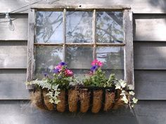 fake window for outdoor shed | Here's my fake window, window box I made.