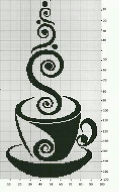 Caffè Cross Stitch Kitchen, Cross Stitch Art, Cross Stitch Designs, Cross Stitching, Cross Stitch Embroidery, Cross Stitch Patterns, Needlepoint Patterns, Embroidery Patterns, Cross Stitch Silhouette