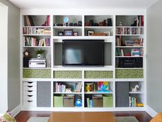 This is a really cost-effective and easy DIY project, and a great way to add a fun pattern to a bookcase.