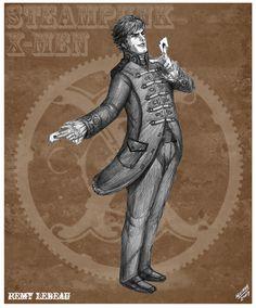 Gambit Steampunk Redesign by *sketcheronline on deviantART