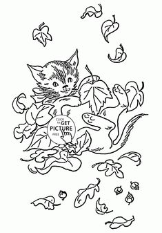 Spring Nature coloring page for kids, seasons coloring