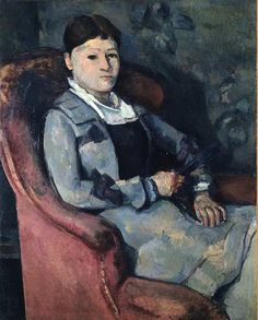 Madame Cézanne a l'eventail (1904) by Cezanne, bought by the Stein family when first exhibited at the Salon d'Automne show in 1904.