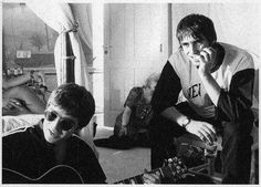 """I can't tell you how I love this picture!  Liam """"Smile"""" Gallagher and Noel Gallagher"""