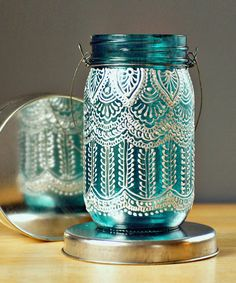 Mermaid Mason Lantern - Handmade Moroccan Nights Collection//