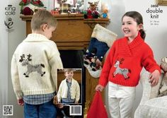 King Cole Children's Christmas Sweaters Pricewise DK Knitting Pattern 3806 Preview