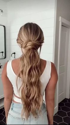 Formal Hairstyles For Long Hair, Hairdo For Long Hair, Long Thin Hair, Long Length Hair, Cute Simple Hairstyles, Easy Braided Hairstyles, Simple Hairstyles For Long Hair, Wedding Guest Hairstyles Long, Casual Updos For Long Hair