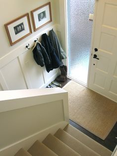"""Our House: House Tour  A split foyer with style""  I do not like split level homes but I like the front door and rug"