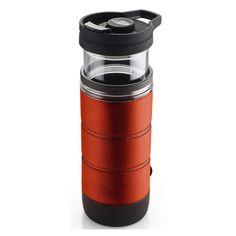 GSI Outdoors Commuter Javapress Orange French Press Coffee Mug for Camp Backpack