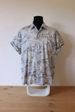 HAWAIIAN SHIRT mens floral tee HIPSTER trendy indie holiday button up XL festive