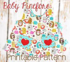 baby pinefore pattern