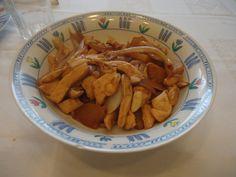 Wok de pollo con piña