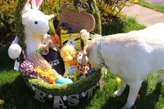 Checking out my Easter basket #Dog #easter #potterybarn