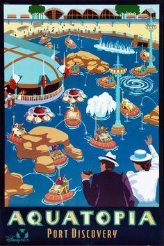 #attraction_poster #TOKYO_DISNEYLAND #Tokyo_Disney_Sea #PORT_DISCOVER_aquatopia #東京ディズニーシー #アクアトピア