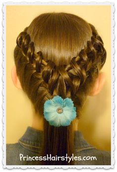 cute hook and ladder braid hairstyle, video tutorial