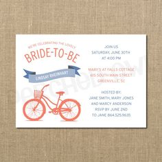 Bridal bicycle signature white bridal shower invitations in stormy bicycle bride to be bridal shower invitation wedding shower bridesmaid lunch digital file filmwisefo