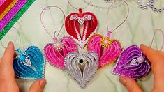 Foam Christmas Ornaments, Christmas Hearts, Christmas Diy, Foam Sheet Crafts, Foam Crafts, Home Design Diy, Foam Sheets, Heart Crafts, Glitter Hearts
