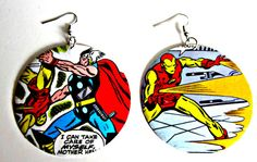 The Original Upcycled Vintage Comic Book Earrings by Customcomix on Etsy. loooove