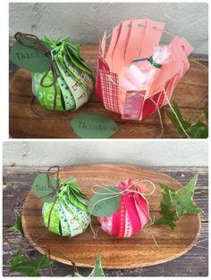 マスキングテープで作れる洋梨型お菓子ラッピング