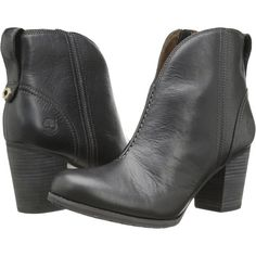 Timberland Earthkeepers Trenton Waterproof Bootie (Black) Women's... ($101) ❤ liked on Polyvore featuring shoes, boots, ankle booties, ankle boots, black, black ankle boots, black bootie, waterproof ankle boots and short black boots