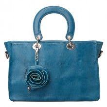 womens blue leather handbag - blue fashion leather convertible crossbody handbag bag for women