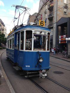 Oldtimer Tram in Zürich.  Copyright by Rodrigue R.R. Brugger, 2015
