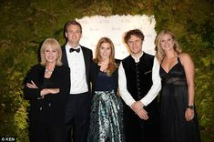 Beatrice joined several known faces at the event, including Joanna Lumley (left),Thomas Heatherwick (second right_ and Holly Branson (right)