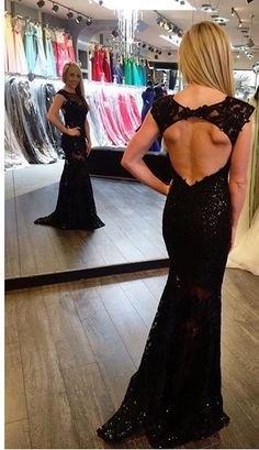 Jovani long black dress. Lace, black long dress with open back. Pageant, prom, or formal dress. Perfect for military ball, marine ball, police ball. Sexy long, black dress with open back. Style # 21226